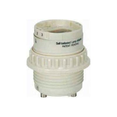 Satco 80-1847 18w G24q-2 combination ballast and lamp holder with GU24 base SB-FLA18