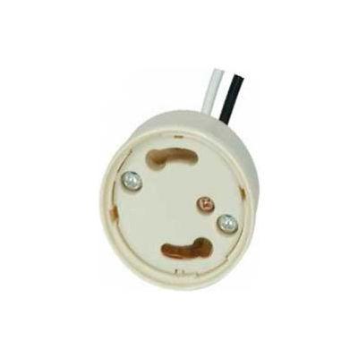 Satco 80-1858 Electronic Socket Cap  24-in. 18AWM 105-#176; Leads - U Channel