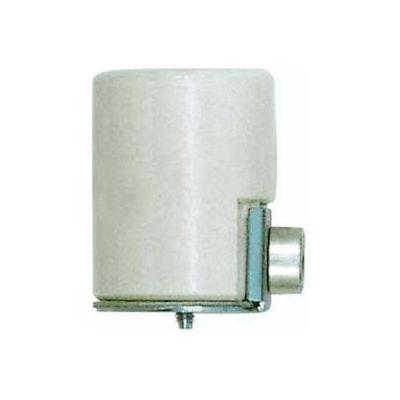 Satco 90-1108 Glazed Porcelain Socket w/Side Outlet - Bushing  1/8 IPS
