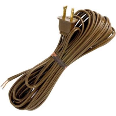 Satco 90-1535 20 Ft. Cord Set, 18/2 SPT-1, Brown