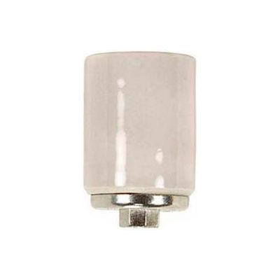 Satco 90-429 Keyless Porcelain Mogul Socket w/Metal 1/4 IP Cap