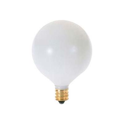 Satco S3832 60g16 1/2/W 60w Incandescent W/ Candelabra Base, 120v, Satin White Bulb - Pkg Qty 25