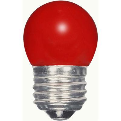 Satco S9165 1.2W LED S11 Night Light Bulb Medium Base Ceramic Red