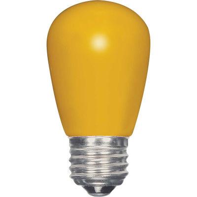 Satco S9169 1.4W LED S14 Ceramic Yellow Medium Base