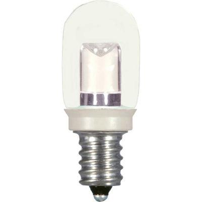 Satco S9177 0.8W LED T6 Indicator Bulb Candelabra Base Clear 2700K