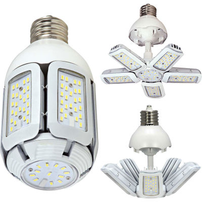 Satco S29752 LED HID Replacement, Adj. Beam Angle, 60W, 7800 Lum, 5000K, Type B, Mog Base, 100-277V