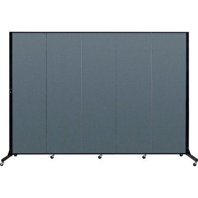 "Screenflex 5 Panel Light-Duty Portable Room Divider, 6'5""H x 9'5""L, Fabric Color: Lake"