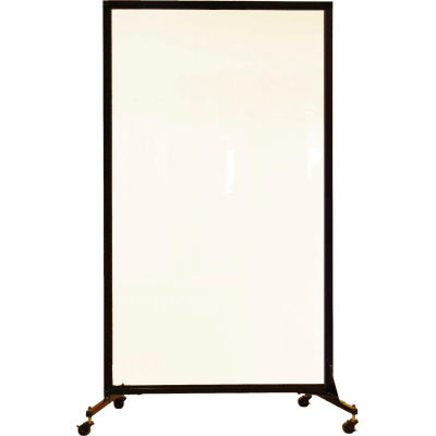 """Screenflex Portable Acrylic Clear Panel Room Divider, 6'2""""H x 3'4""""L"""