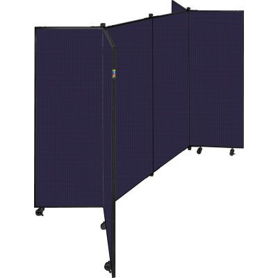 "6 Panel Display Tower, 5'9""H, Fabric - Navy"