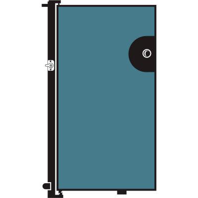 Screenflex 4'H Door - Mounted to End of Room Divider - Vinyl-Blue Tide