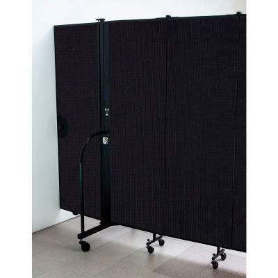 Screenflex 4'H Door - Mounted to End of Room Divider - Charcoal Black