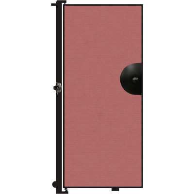 Screenflex 6'H Door - Mounted to End of Room Divider - Rose