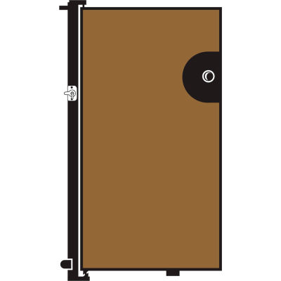 Screenflex 6'H Door - Mounted to End of Room Divider - Oatmeal