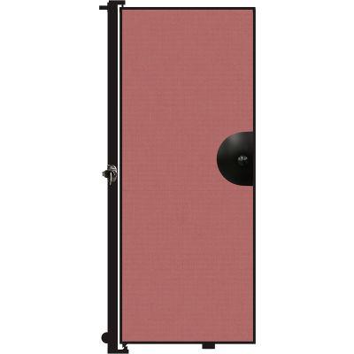 "Screenflex 6'8""H Door - Mounted to End of Room Divider - Rose"