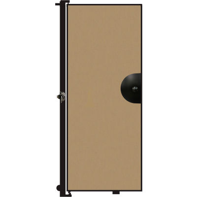 "Screenflex 6'8""H Door - Mounted to End of Room Divider - Desert"