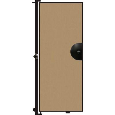 "Screenflex 6'8""H Door - Mounted to End of Room Divider - Desert"