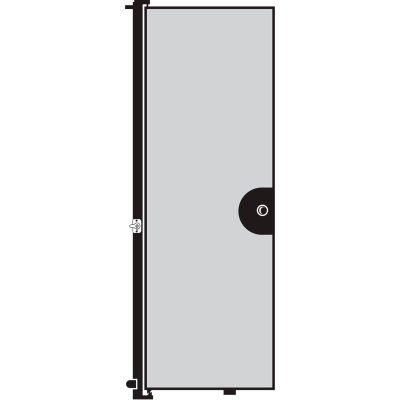 "Screenflex 6'8""H Door - Mounted to End of Room Divider - Grey"