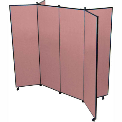 """6 Panel Display Tower, 5'9""""H, Fabric - Cranberry"""