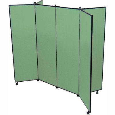 "6 Panel Display Tower, 5'9""H, Fabric - Sea Green"