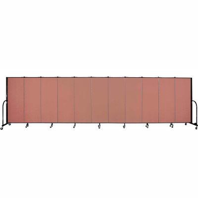 "Screenflex 11 Panel Portable Room Divider, 5'H x 20'5""L, Fabric Color: Cranberry"