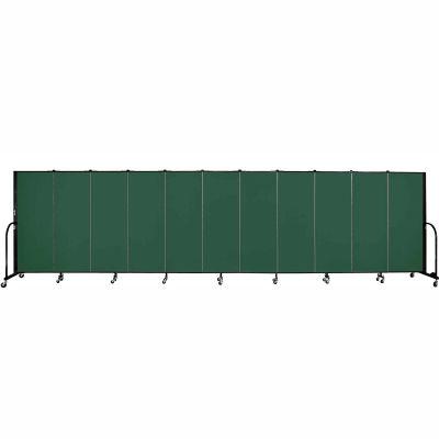 "Screenflex 11 Panel Portable Room Divider, 5'H x 20'5""L, Fabric Color: Green"