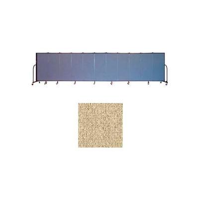 """Screenflex 11 Panel Portable Room Divider, 5'H x 20'5""""L, Vinyl Color: Sandalwood"""