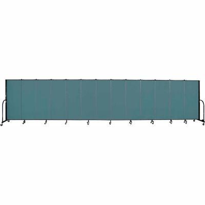 "Screenflex 13 Panel Portable Room Divider, 5'H x 24'1""L, Fabric Color: Lake"