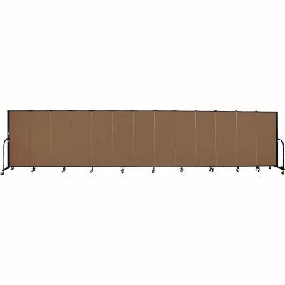 "Screenflex 13 Panel Portable Room Divider, 5'H x 24'1""L, Fabric Color: Oatmeal"