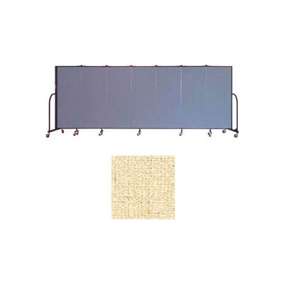 "Screenflex 7 Panel Portable Room Divider, 5'H x 13'1""L, Vinyl Color: Hazelnut"