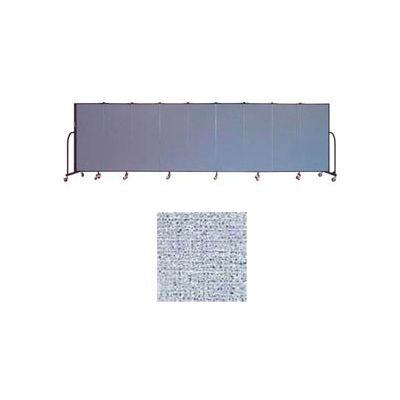 "Screenflex 9 Panel Portable Room Divider, 5'H x 16'9""L, Vinyl Color: Blue Tide"