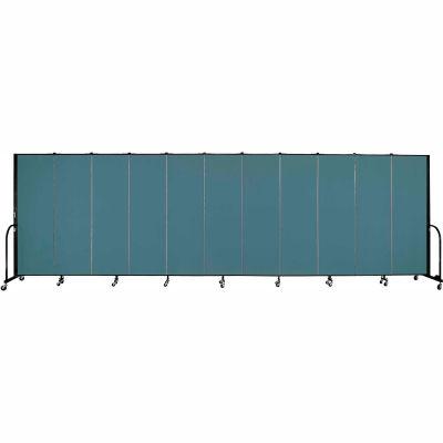 "Screenflex Portable Room Divider - 11 Panel - 6'H x 20'5""L -  Lake"