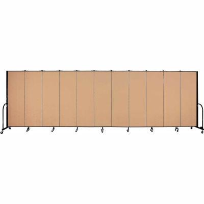 "Screenflex Portable Room Divider - 11 Panel - 6'H x 20'5""L -  Wheat"