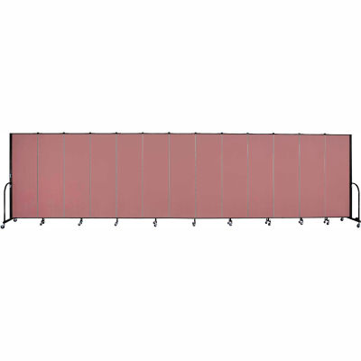 "Screenflex Portable Room Divider - 13 Panel - 6'H x 24'1""L -  Rose"