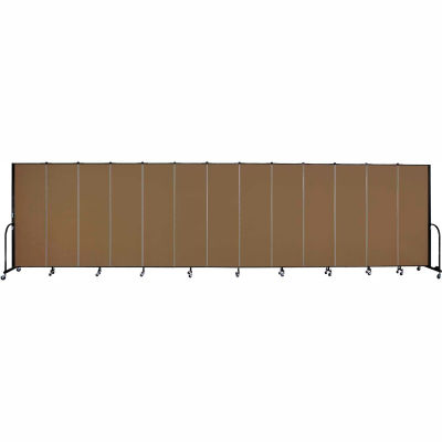 "Screenflex Portable Room Divider - 13 Panel - 6'H x 24'1""L -  Walnut"