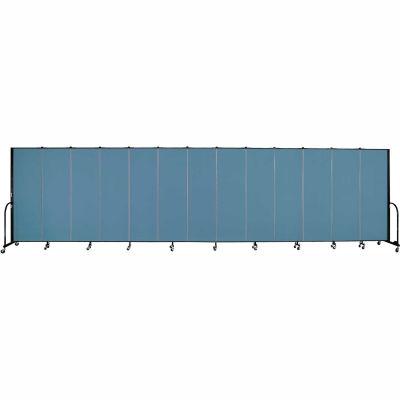 "Screenflex Portable Room Divider - 13 Panel - 6'H x 24'1""L -  Blue"