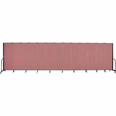 """Screenflex Portable Room Divider - 13 Panel - 6'H x 24'1""""L -  Mauve"""