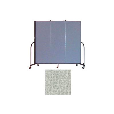 "Screenflex 3 Panel Portable Room Divider, 6'H x 5'9""L, Vinyl Color: Mint"