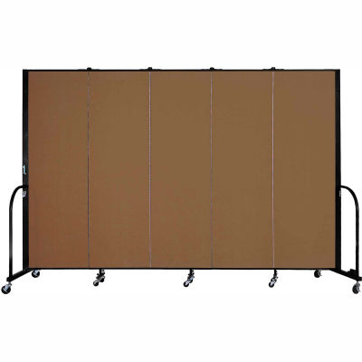 "Screenflex Portable Room Divider - 5 Panel - 6'H x 9'5""L -  Oatmeal"