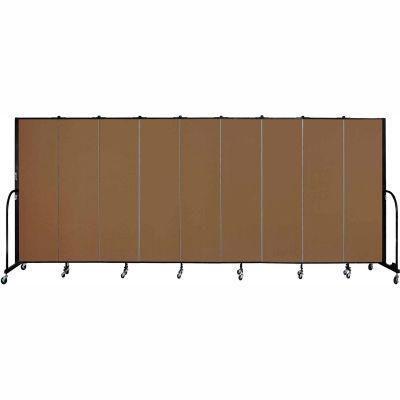 "Screenflex 9 Panel Portable Room Divider, 6'8""H x 16'9""L, Fabric Color: Oatmeal"