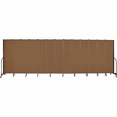 "Screenflex 13 Panel Portable Room Divider, 7'4""H x 24'1""L, Fabric Color: Oatmeal"