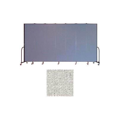 "Screenflex 7 Panel Portable Room Divider, 7'4""H x 13'1""L, Vinyl Color: Granite"