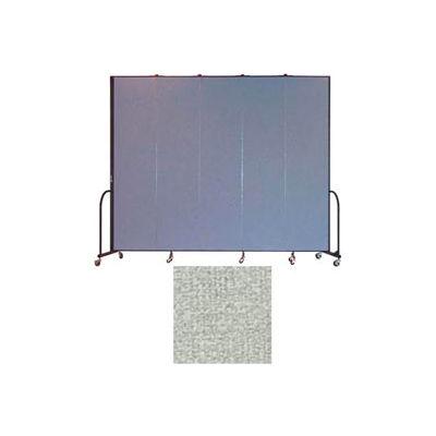 """Screenflex 5 Panel Portable Room Divider, 8'H x 9'5""""L, Vinyl Color: Mint"""