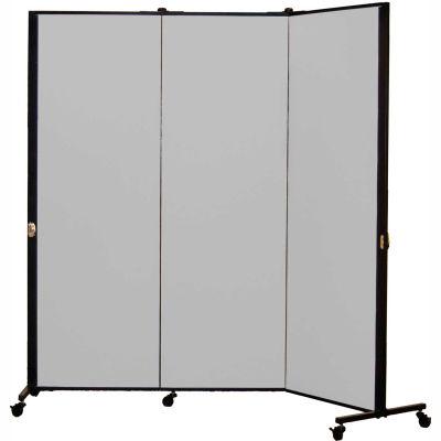 Healthflex Portable Medical Privacy Screen, 3-Panel, Vinyl Granite