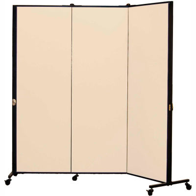 Healthflex Portable Medical Privacy Screen, 3-Panel, Vinyl Hazelnut