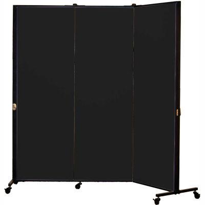 Healthflex Portable Medical Privacy Screen, 3-Panel, Vinyl Coal