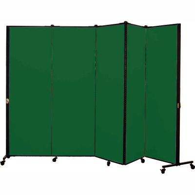 Healthflex Portable Medical Privacy Screen, 5-Panel, Mallard