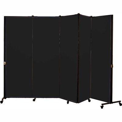 Healthflex Portable Medical Privacy Screen, 5-Panel, Charcoal