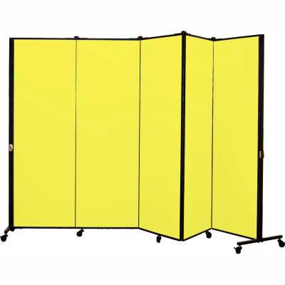 Healthflex Portable Medical Privacy Screen, 5-Panel, Primary Yellow