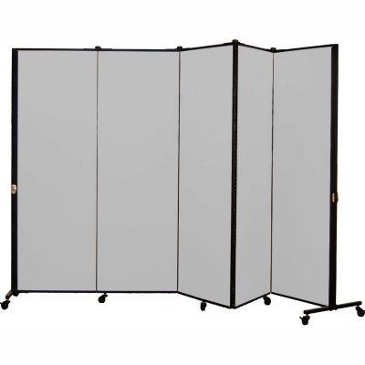 Healthflex Portable Medical Privacy Screen, 5-Panel, Vinyl Granite