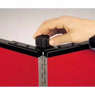 Screenflex Black Powdered Painted Metal Panel Lock for 9 Panel